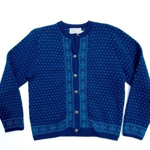 Pendleton Pure Virgin Wool Button Down Sweater